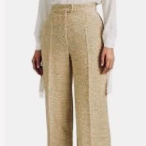 Theory Tweed Wide Leg Trousers